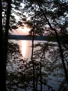 Walden Pond at dusk
