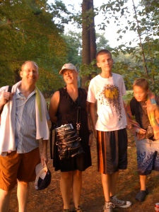 The fam at Walden Pond, escaping the 93-degree Cambridge heat.