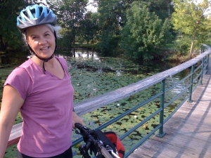 Bike riding along the Charles. . . .