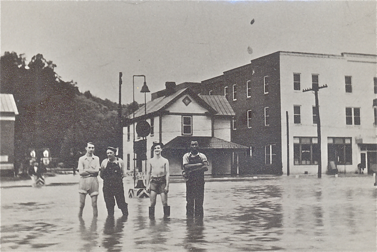 A Rare Light Moment During The Storied 1937 Flood That Put A Hurt On Bassett ,