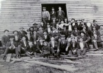 """The first known photo of Bassett Furniture — aka """"Old Town."""" 