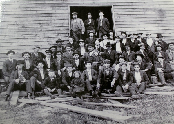 """The first known photo of Bassett Furniture — aka """"Old Town.""""   Photo courtesy Bassett Historical Center"""